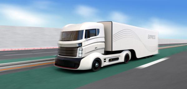 CO2 armer LKW mit Elektroantrieb