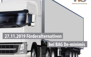Alternative Förderungen BAG De-minimis 2019