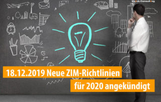 Neue ZIM Richtlinien für 2020