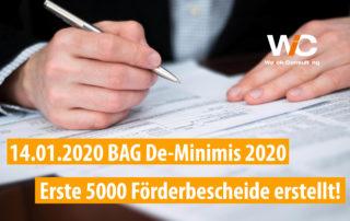 BAG De-minimis erste 5000 Förderanträge