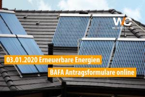 Solarthermie als Beispiel für Gewinnung eneuerbarer Energien zum Heizen gefördert vom BAFA