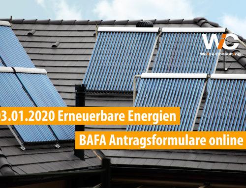 03.01.2020 Heizen mit erneuerbaren Energien – BAFA stellt Antragsformulare 2020 online