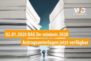 Antragsfristen für das BAG De-minimis Förderprogramm