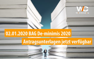 BAG De-minimis 2020 Antragsunterlagen