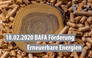 Holzpellets BAFA Förderprogramm erneuerbare Energie