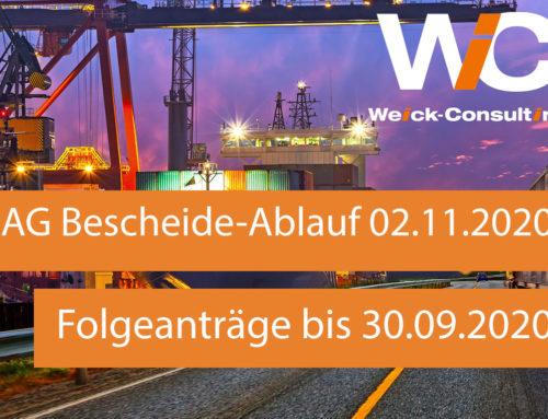 04.07.2020 – Bundesamt für Güterkraftverkehr verlängert De-minimis Bescheide bis 02.11.2020!