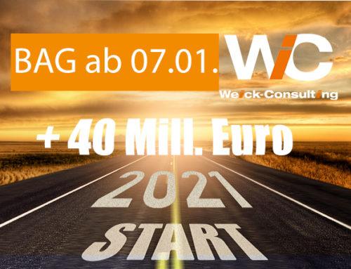 """07.01.2021 -Antragsstart BAG Förderprogramm Sicherheit und Umwelt """" De-minimis"""" mit 40 Mill. Euro zusätzlich"""