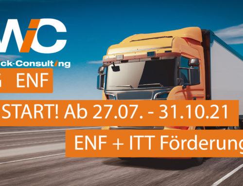 """27.07.2021 – NEUSTART! BAG Förderung ENF 3.0 """"Verschrottungsprämie für Anschaffung EURO 6 Lkw"""" und """"Anschaffung Intelligente Trailer-Technologien"""" (ITT)"""